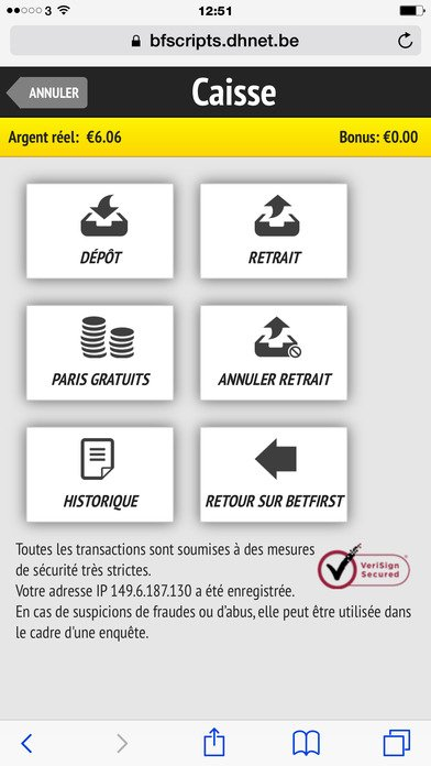 Jouer sur mobile BetFIRST