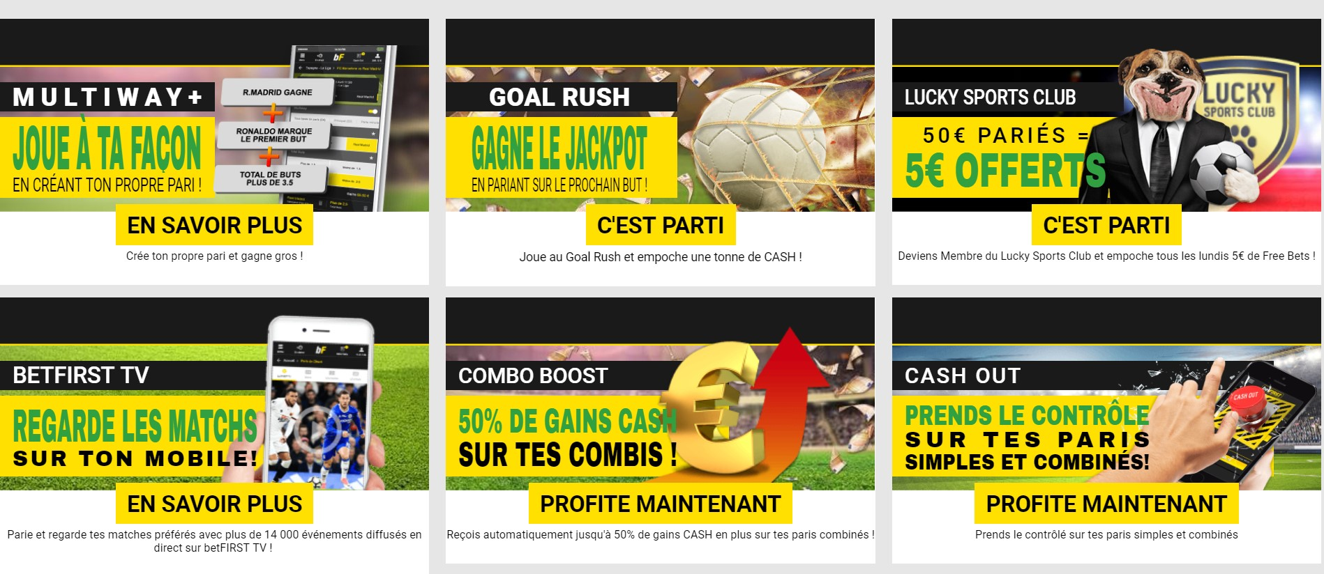 Promotions sur Betfirst